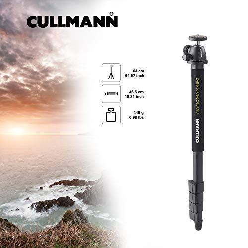 Cullmann Nanomax 490 Monopod avec Rotule - Hauteur: 164,0 cm - Noir