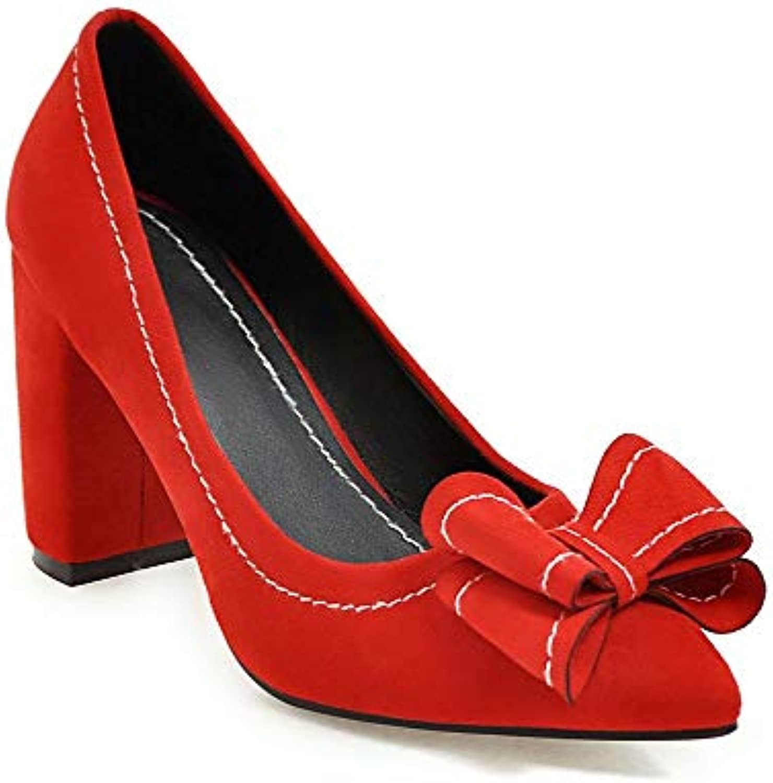 Lsm-Heels Wouomo Block Heel Pointed Toe Shallow Mouth scarpe | comfort  | Uomo/Donna Scarpa