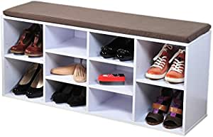 Kesper banc de rangement chaussures avec coussin d - Rangement chaussures amazon ...