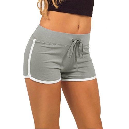 Damen Casual Shorts Hot pants Sportshorts Baumwolle Badehose Grün EU 32/(Asian S)