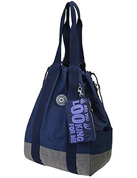 Travistar Wasserdichte Nylon Multifunktions Tasche Damen Rucksack Große Schultertasche Handtasche Windeltasche...