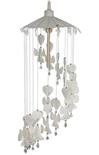 Neu Windspiel Mobile Thai Saa Maulbeerbaum-papier Frieden Weiß Angels Schirm Wohnkultur Kinderbett