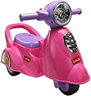 Luvlap - 18519 Wheelie Scooter Ride On for Kids, Battery Operated Music & Light, 12 Months + (P
