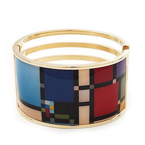 ampia-geometrico-cerniera-bracciale-oro-ton-lunghezza-18-cm