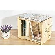 HETAO Holz Multilayer Kassette A4 Papier File Box Nette große Shelf Office Desktop File Holder 33 * 25 * 27CMEinfach und stilvoll