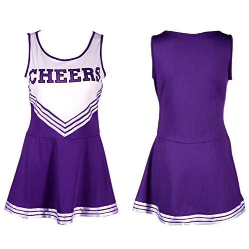 ZYUNYUN Cheerleader Kostüm Outfit Uniform High School Musical Sexy Dessous Weibliche Cheerleading Uniformen Performance Kleidung, Extra Large,A,XS