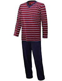 Herren Schlafanzug lang Herren Pyjama lang Hausanzug Herren aus 100% Baumwolle Model MoonLine