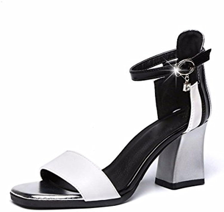 kphy sandales sandales sandales filles étudiants exposés des chaussures orteils milieu talons des couleurs de ceinture 7cm...b07dz3h4rq parent | En Ligne  34cd11