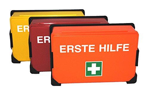 Erste Hilfe Koffer K-04, ohne Inhalt, Farbe nach Wahl - Verbandskasten (Rot)