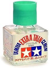 Tamiya 87038–Colla Extra liquida con pennello applicatore, Bottiglietta da 40ml