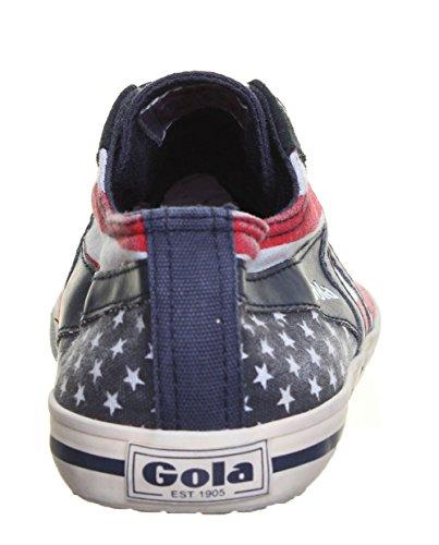 SV Gola Classics Quota - Scarpe da ginnastica da donna, in tela, stringate, stile retrò, colore: navy Blu (Blu)
