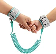 Toddler Leash, Kid Leash Anti Lost Safety Wrist Link Belt with Lock + 1.5m Bungee Straps Link for Child Babies