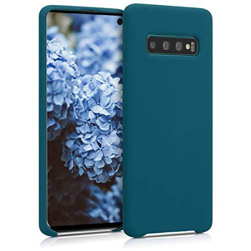 kwmobile Samsung Galaxy S10 Hülle - Handyhülle für Samsung Galaxy S10 - Handy Case in Petrol matt