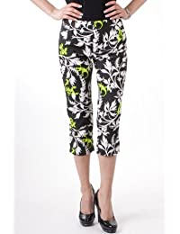 Miss Sixty capri pantalones de cintura, colour negro/blanco