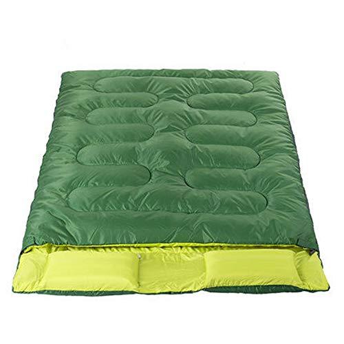 DUDUO-Camping Campingbedarf Katastrophenschutz Schlafsack Umschlag Typ Wasserdicht Strauch Camp Einfache Lagerung Klettern Bergsteigen Nacht Für (Color : Grün, Size : One Size)