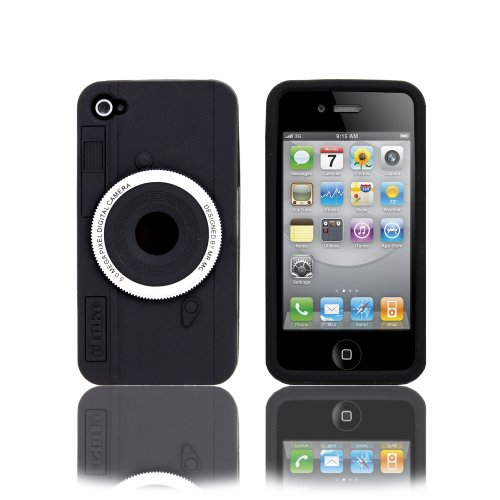 Fosmon Cool 3D Looks Camera Design Silicone Case for Apple iPhone 4G / 4S