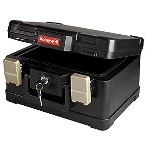 Coffre fort ignifuge, Mallette de sécurité ignifuge résistant au feu et à l'eau DIN A5, 30,9 x 24,9 x 17,8 cm