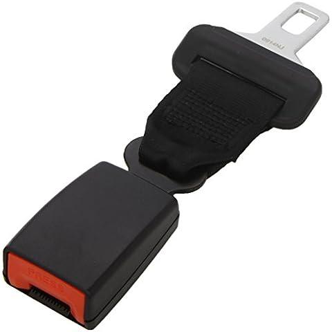 Extender della cintura di sicurezza di autoveicolo: Lunghezza cm 20 - Nero - Larghezza della linguetta metallica mm 21.5 - Sostituzione Porta Pelli