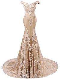 JAEDEN Mujer Sirena Encaje Vestidos de noche Largo Vestido de baile Vestido formal