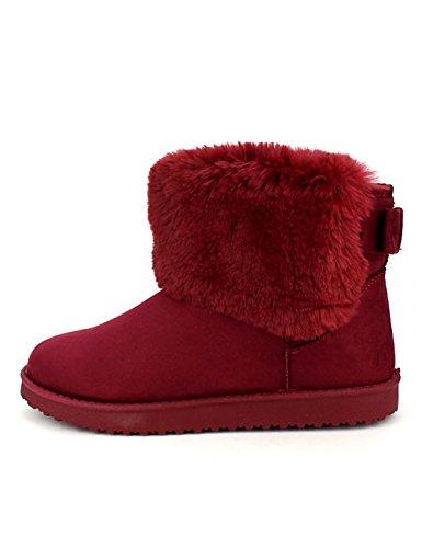 Cendriyon Boots Fourrées Bordeaux CINKS UGGA Chaussures Femme Bordeaux