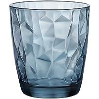 Bormioli Rocco Diamond Blue - Vaso para Whisky, 39 Cl,Pack con 6Vasos