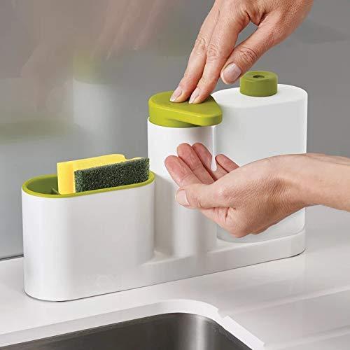 BIGBINUK - Esponja de Almacenamiento para lavavajillas de Cocina, multifunción, dispensador de jabón y jabón de Mano