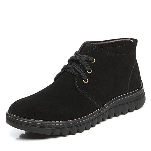 Bottes de neige/Botte en cuir imperméable à l'eau chaude/Salut les chaussures C