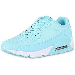 Damen Runners Laufschuhe Sportschuhe Sneakers Trendfarben Schuhe Türkis 36