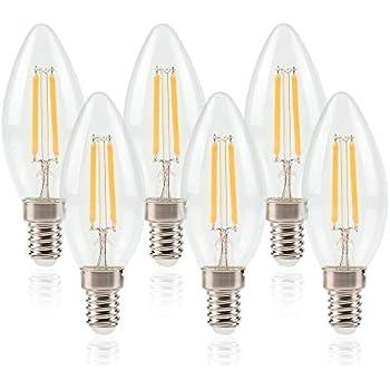 Ampoule 6x 3200k 550lm Lumineux Forme Chaud Bougie 6w Ampoules Led À Super E14 Elinkume 220v Blanc Flamme xrdBeQWCo