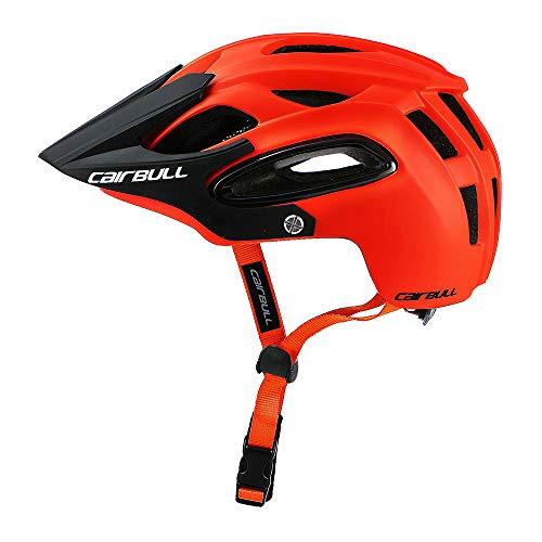 Lixada Seguridad Transpirable Integral-Moldeado Ultralight Casco Profesional MTB Bicicleta Casco (Naranja, M)