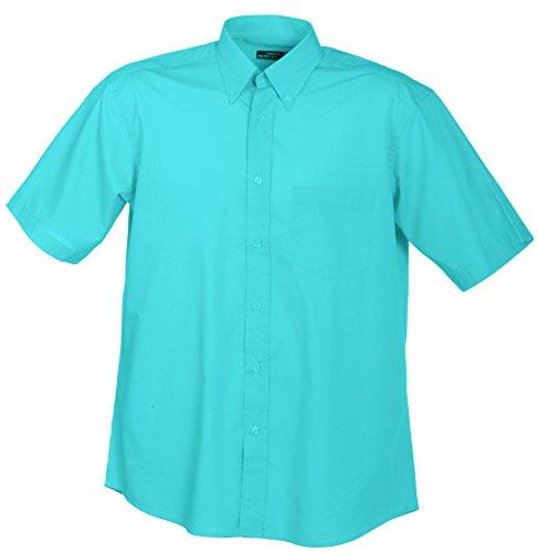 - Knopf-manschette-button-down-hemd (James & Nicholson Herren Men's Promotion Shirt Short-Sleeved Sporthemd, Türkis (Turquoise), X-Large)