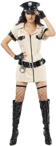 Naughty Cop Kostüm - Sexy POLICE Frau American Style Cop