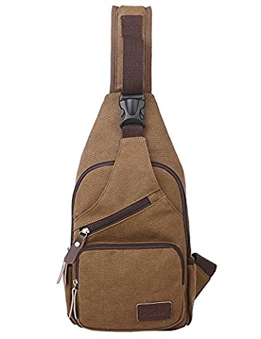 Mygreen Mens Chest Bag Pack Sports Casual Canvas Sling Backpack