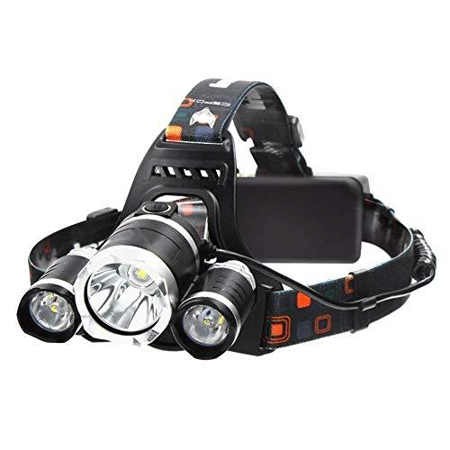 IceFox Stirnlampe, Super helle LED-Lampen, 6000 Lumen Wasserdichter Scheinwerfer mit 4 Helligkeits-Modi. Perfekt zum Laufen, zum Campen, zum Wandern und zum Spazierengehen