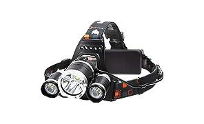 Six Foxes Lampade da Testa LED, Ricaricabile Usb 6000 Lumen Lampada Frontale, Luce Frontale Impermeabile Zoomable 4 Modalità - perfetto per correre, campeggio, corsa, speleologia, pesca