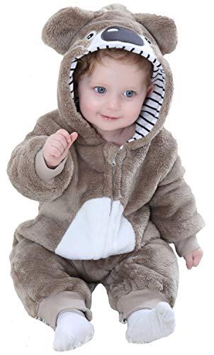 Kostüm Koala Baby - Katara 1778 Koala Baby-Kostüm Karneval, kuscheliger Jumpsuit/Onesie, verschiedene Tiere & Größen, Pyjama-Qualität, braun
