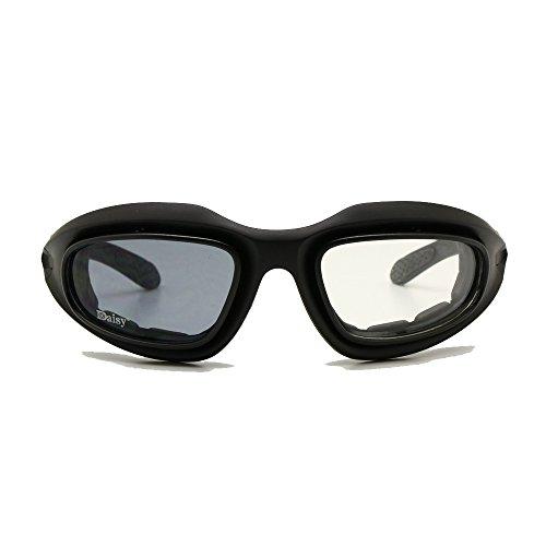 Daisy c5 la transizione photochromic polarizzati militari occhialini 4 lenti kit sportivi esterni di moto gli occhiali di giochi di guerra dell'esercito gli occhiali da sole (transizione polarizzata)