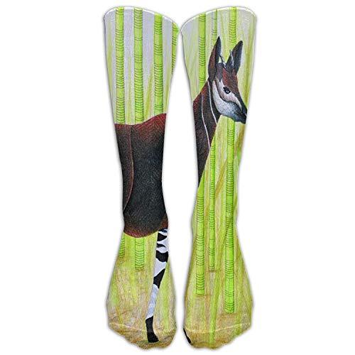 Unisex-Schutz Okapi Giraffen Mode Stocking Socken Athletic Sock Long Sock (Kids Lace Boot Socken)