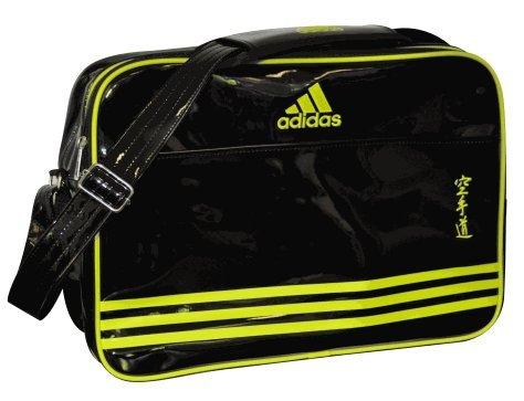 adidas Retro Umhänge Tasche schwarz/Neongelb Karate Gr. L