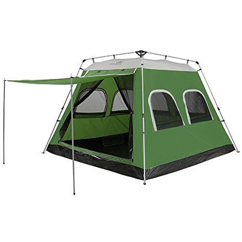 , Hydraulisches Automatisches Zelt Für 6-8 Personen Oxford-Stoff, Abriebfestes Wasserdichtes, Atmungsaktives, Geräumiges, Wasser- Und UV-Geschütztes Sonnenschutzdach,Green ()