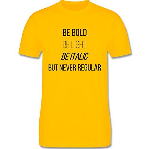 Designer - Never be regular - Herren Premium T-Shirt Gelb