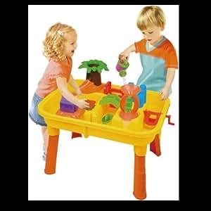 table de jeu plage sable eau 20 pieces enfant jouet jardin maison camping eveil. Black Bedroom Furniture Sets. Home Design Ideas