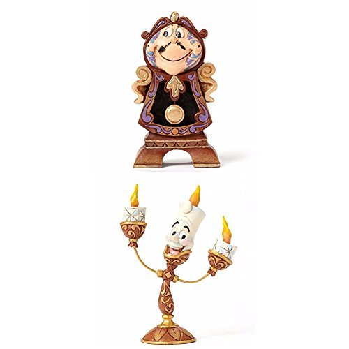 Disney Tradition Keeping Watch (Cogsworth Figur) + Disney Tradition Ooh La La (Lumiere Figur) (Ooh La La)
