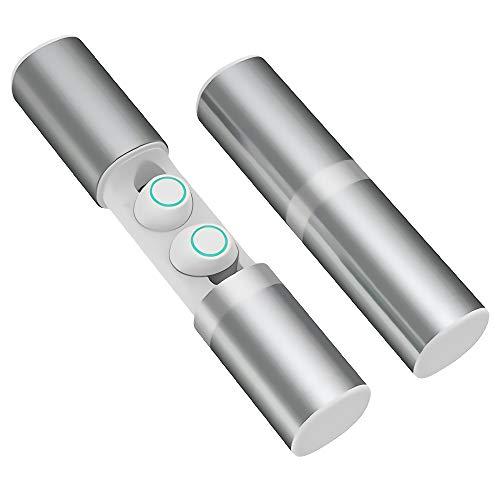 Auricolari Wireless, Cuffie bluetooth V5.0 HD Stereo per Sport, In-Ear Mini Cuffie Wireless impermeabile IPX5, Auricolari bluetooth con doppie microfono e Siri per i-Phone Samsung Huawei LG HTC IOS