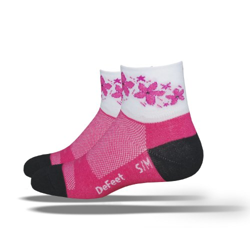 Defeet Damen Aireator Pink Passion Socken, Damen, Himbeere, Small/Medium -