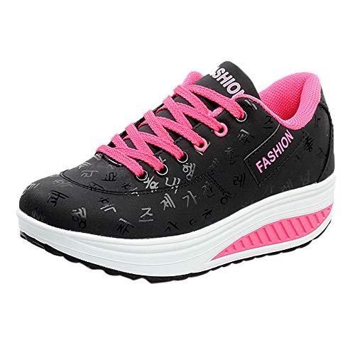 Zapatillas Deportivas Mujer Fannyfuny Zapatillas Deportivas Cuña Zapatos Wedge Sneakers Moda de Malla...