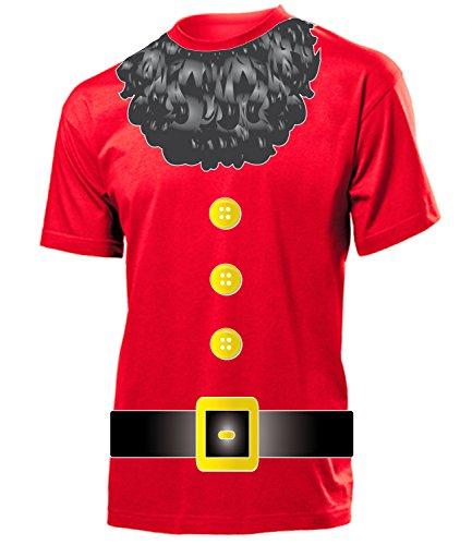 Kostüm Herren T-Shirt Zwergenkostüm Märchen Männer Fasching Faschingskostüm Karnevalskostüm Paarkostüm Gruppenkostüm Rot XL ()