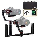 Feiyu A2000 3-Achsen-Doppelhandstabilisator, FeiyuTech-Gimbal mit 2,5 kg Traglast, Passend für spiegellose Kameras Sony/Panasonic / iPhone/GoPro Hero, 360 Grad mit Hülle & 32 GB SD-Karte