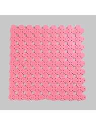 Suave shag Alfombra de mosaico sin sabor, Alfombra antideslizante para el baño, puedes cortar