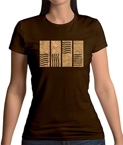 4 Element Stones - Damen T-Shirt - Dunkles Schokobraun - XXL (Fünfte Element Leeloo)